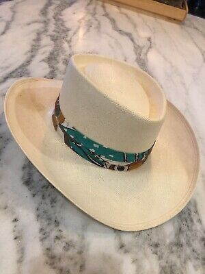 58aa31bcee32 Vintage MENS STETSON NATURAL Genuine SHANTUNG PANAMA HAT Size 6 3/4  PRE-OWNED
