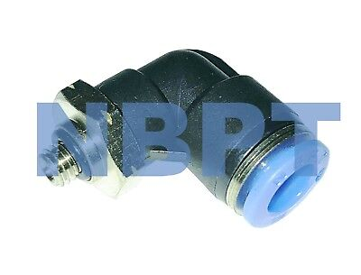 One Touch Push to connect fitting Male Elbow 1/4 OD Tubing x 10-32 ,NBP 10
