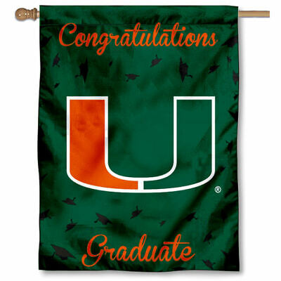 University of Miami Graduation Gift Decorative Flag
