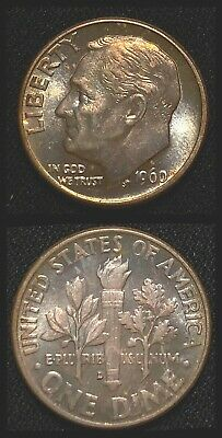 1960-D  Roosevelt Dime   ~   Silver Coin  >>>NICE TONING<<<