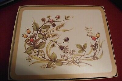 Marks & Spencer Harvest Place Mats x 6 St Michael Harvest Table Mats