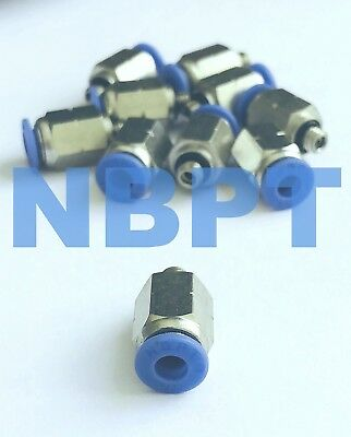 5/32 Push to Connect, One Touch Fitting Straight PC5/32-1/8 NPT, NBPT 10 pcs