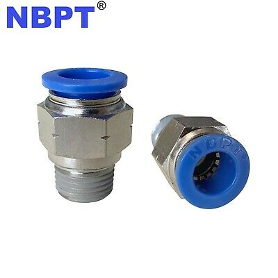 1/2 Tube OD 1/2 NPT Push In to Connect One Touch Fittings NBPT PC1/2-N04, 5