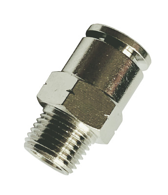 """Brass One Touch Push to Connect Fitting 1//4/""""OD x 1//4/""""NPT Male Straight 5 pcs"""