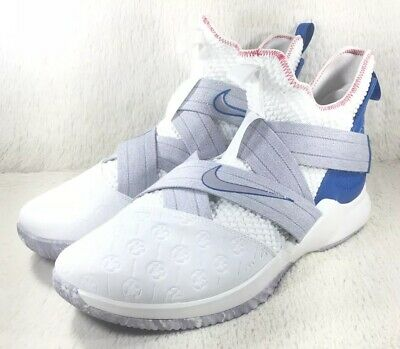 sports shoes 08a00 b04ba NEW Nike Lebron Soldier XII 12 Shoes Mens White Basketball AO2609-101 Size  17