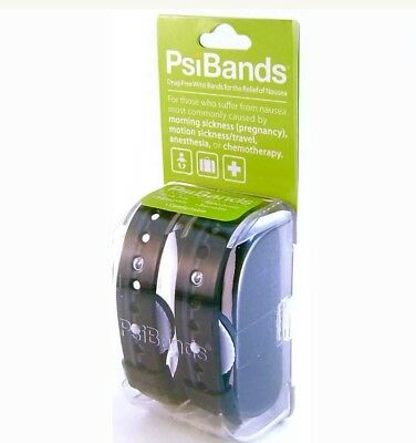 PSI Bands Wrist Bands Motion Sickness Acupressure Nausea Relief New Reusable
