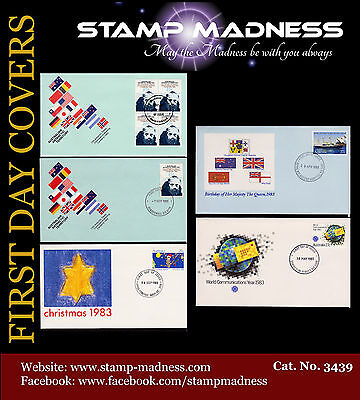 AUSTRALIA FIRST DAY COVER  Collection 1983 L04 from Bulk Estate Buy
