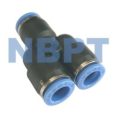 3/8 OD Union Y One Touch Quick Connect Push In to Connect Air Tube Fitting 5