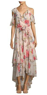 c45ff0ecb27 NWT ANTHROPOLOGIE FARM Rio Havana Floral Long Dress Pom Poms Maxi ...