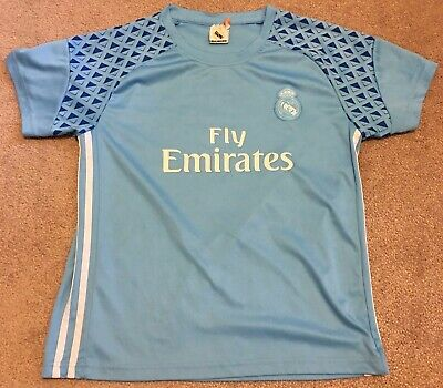 hot sale online e1380 2dac2 RONALDO REAL MADRID Light Blue Jersey Youth Large