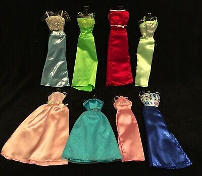 Barbie Doll Clothes Clothing 8 Evening Gown Dresses Outfits (11 pieces total)
