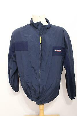 01e8087a5f8e2f Vintage Tommy Hilfiger Athletics Men s Navy Vented Nylon Windbreaker Jacket  ...