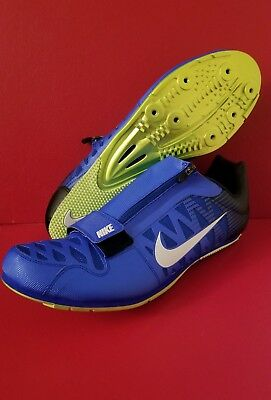 save off 6a563 9972d NEW Nike Zoom LJ4 Track Field Spikes Long Jump Blue 415339-413 Size 15