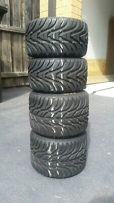 Go Kart - Tyres MG White 1 set USED in good condition #2