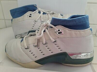 32756a0f0dd5ca AIR JORDAN XVII LOW USED WHITE UNIVERSITY BLUE CHROME 303891 141 Size 11.5