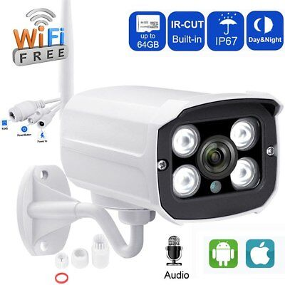 1080P Wireless WIFI IP Camera Sony Sensor Outdoor Security ONVIF IR Audio Camhi