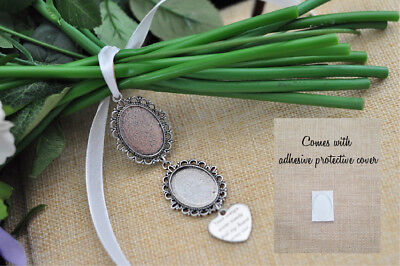 Blank DIY Bouquet Memory Bridal Photo Frame Charm with cover
