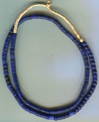 African Trade beads Vintage Czech Bohemian old glass cobalt blue color beads