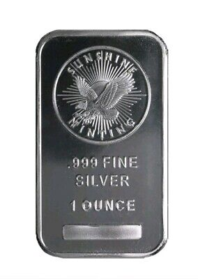 Lot of 3- 1 oz Troy Ounce Sunshine Minting Silver Bar .999 Fine Silver - Sealed