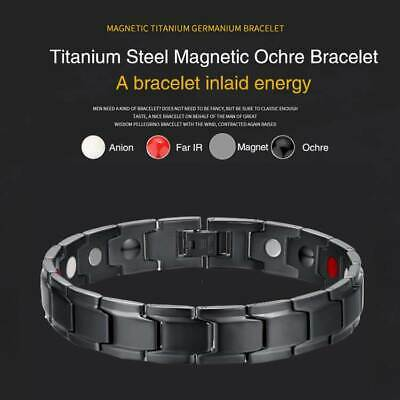 Therapeutic Energy Healing Bracelet Stainless Steel Magnetic Therapy Bracelet