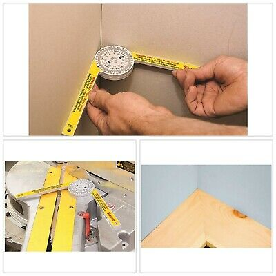 Miter Saw Protractor Measuring Layout Tools Protractors Laser Engraved Durable