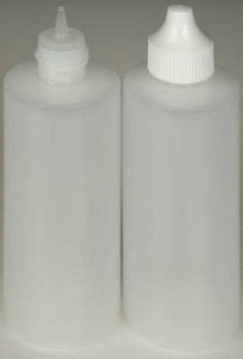 Plastic Dropper Bottles, Precise Tipped w/White Cap, 4-oz., 3-Pack