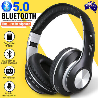 NEW Bluetooth 5.0 Wireless Earphones Foldable Headset Stereo Headphones with Mic
