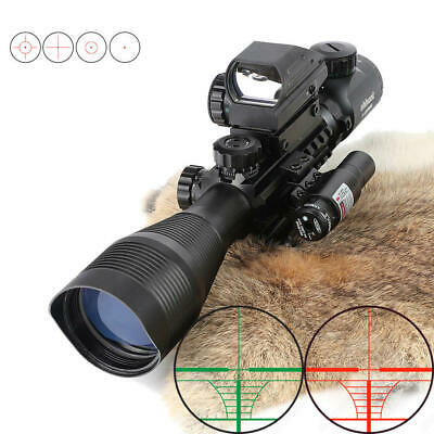 SWAT 4-12x50 EG Tactical Rifle Scope With Holographic 4 Reticle Sight & Red L...