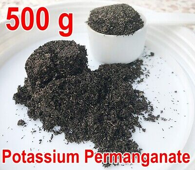 500 g Potassium permanganate Disinfectant Toxins in fruits and vegetables (KMNO4