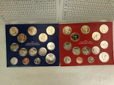 2014 P&D ERROR Uncirculated Set 28 Coins US Mint *P mint Native American error