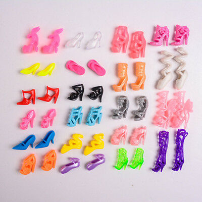 Fashion Party Daily Wear Dress Outfit Clothes Shoe For Barbie Doll 5 Pair Random