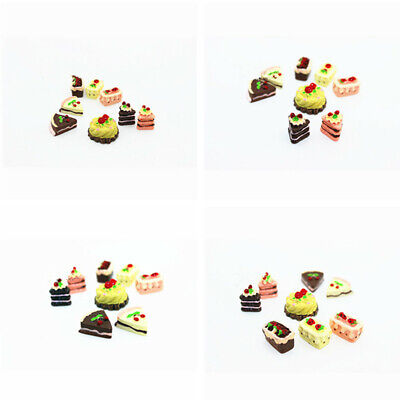 1:12 Food Bakery Assorted Cake Fruit Chocolate Pie Rement 8 Dollhouse Miniature