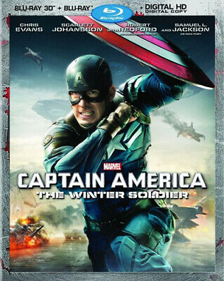 Captain America: The Winter Soldier (2 Disc 3D Blu-ray + Blu-ray) 3D BLU-RAY NEW
