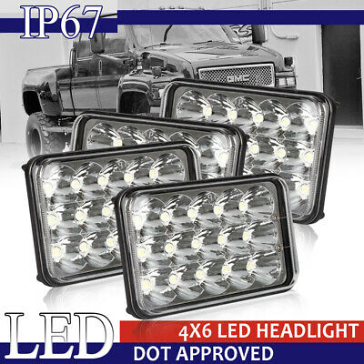 """4pcs 180W DOT Approved 4x6 6x4"""" inch Led Projector Headlights for H4651 H4652"""