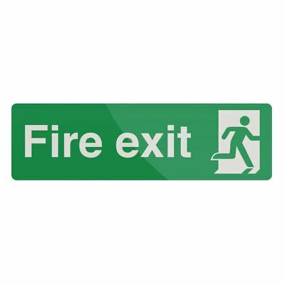 Fire Exit Sign 400 x 125mm Photoluminescent Signage Rigid Safety Sign