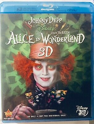 Disney's Alice In Wonderland (3D Blu-ray only, 1 disc) Like New
