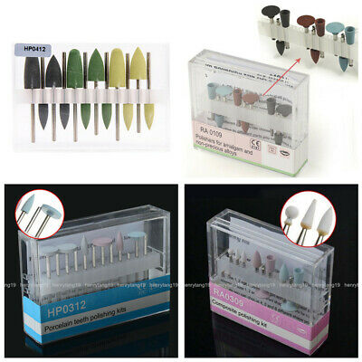 Dental Rubber Silicone Grinding Head Polishing Set for Low-speed Handpiece RA/HP