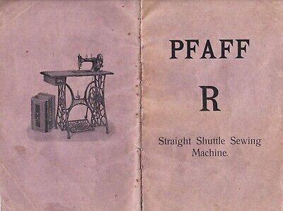 Vintage Pfaff 'R' sewing machine instruction booklet from 1913 (copy)
