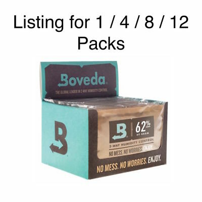 NEW Boveda 62% RH Humidity Control Large 67 Gram Size Individually Wrapped 60