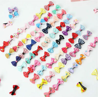10pcs Kids Baby Girl's Ribbon Hair Bow Mini Latch Clips Hair Clip Hairpin LOT