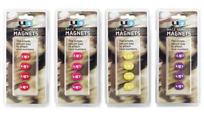 Magnetic Run Bib Race Number Clips Holders Ultimate Performance® Set 4 Magnets
