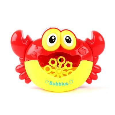 Crab Bubble Machine Musical Bubble Maker Baby Child Bath Shower Toy With light