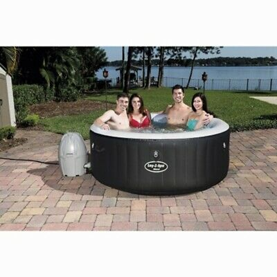 G19 Comfortable Lay-Z-Spa Miami Hot Tub Soothing Massage Action in your garden.