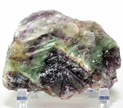 2LB Purple Green Fluorite Rough Gemstone Crystal Mineral Rock Specimen - China