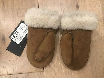 Authentic New! Kids Ugg Chestnut Mitts / Gloves 2-4yo (RRP 70 EUR / $110)
