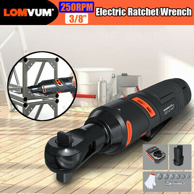 12V Electric Ratchet Wrench Large Torque 90 Degree Right Angle LED 3/8''