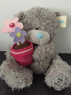 "8"" Me To You Tatty Teddy Plush - Pink Mum Flowerpot & Free Mothers Day Card"