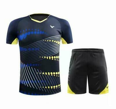 2019 New victor Men's Tops Sportswear Clothing badminton Tennis T-shirt+shorts