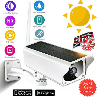 Wireless Solar Outdoor WiFi IP Camera 1080P HD Security Surveillance Audio CCTV