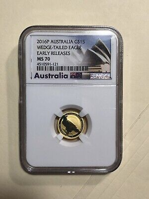 2016-P Australia $15 - 1/10 Oz Gold - Wedge Tailed Eagle - NGC MS-70